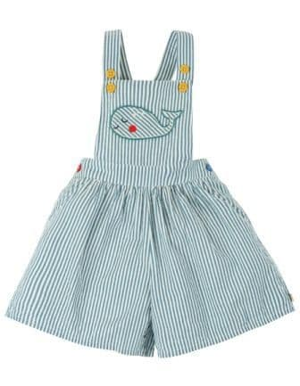 Frugi Whale Cassie Culotte Dungarees