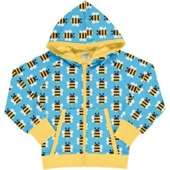 Maxomorra Bumblebee Hooded Cardigan