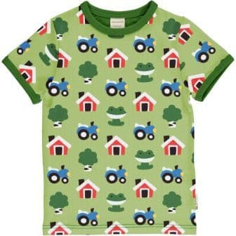 Maxomorra Forest Farm Short Sleeve Top