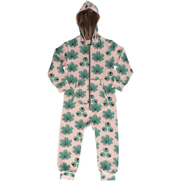 Maxomorra Hooded Onesie Chestnut Leaf