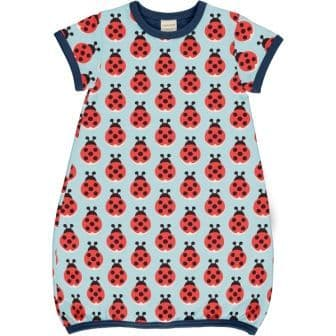 Maxomorra Lazy Ladybug Short Sleeve Balloon Dress