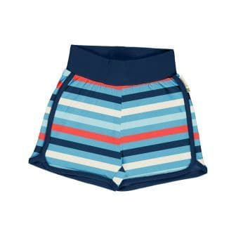Maxomorra Sky Stripe Runner Shorts