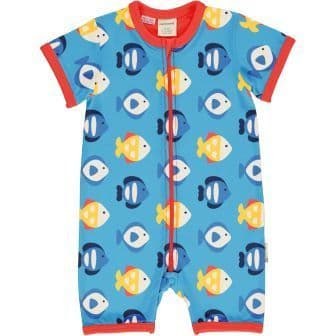 Maxomorra Tropical Aquarium Short Rompersuit