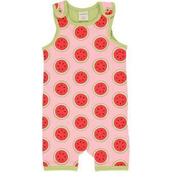Maxomorra Watermelon Short Playsuit