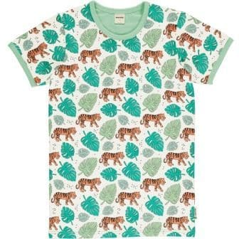 Meyadey Adult Man Tiger Jungle Short Sleeve Top