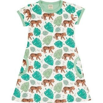 Meyadey Tiger Jungle Short Sleeve Dress