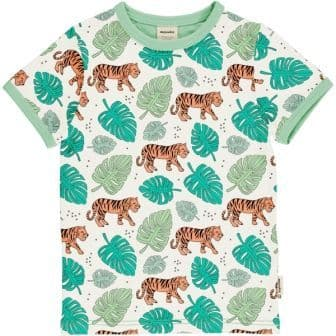 Meyadey Tiger Jungle Short Sleeve Top