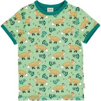 Meyadey Wild Fox Short Sleeve Top