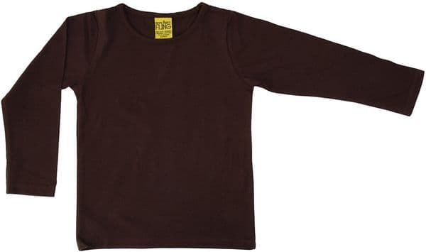 More Than a Fling MTAF Java Brown Long Sleeve Top