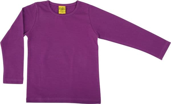 More Than a Fling MTAF Long Sleeve Top Bright Violet
