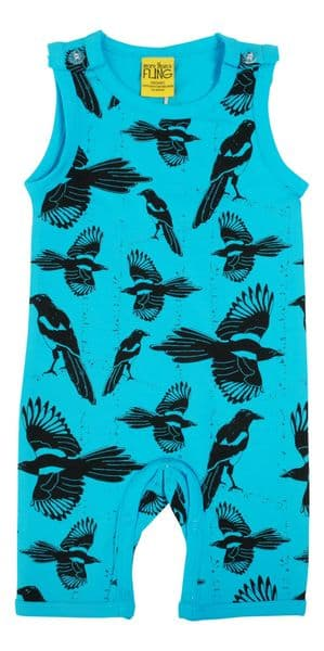 More Than a Fling Pica Pica Blue Atoll Summer Dungarees