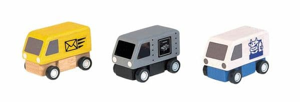 Plan Toys Planworld Delivery Van 3 pack