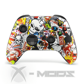 XBOX SERIES RAPIDFIRE CONTROLLER  - STICKERBOMB - CARNAGE 2.0 MOD