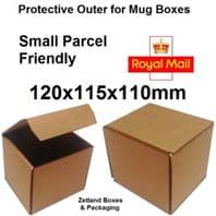 Mug Box Outer Royal Mail Small Parcel  120x115x110mm 50 Pack