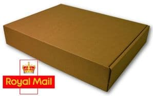 Royal Mail Small Parcel 220x155x100mm Postage Box 25 Pack - High Quality Die Cut