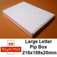 White Large Letter 218x159x20mm - 25 Pack - Die Cut