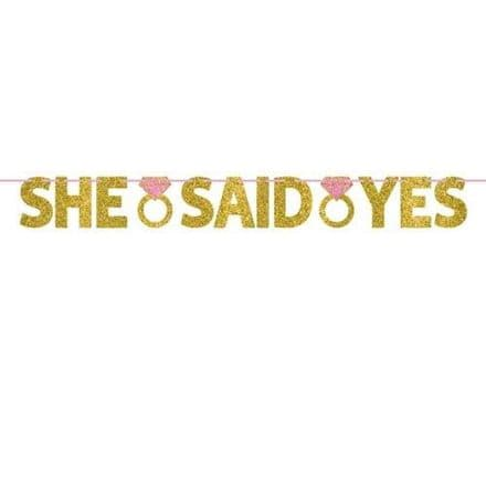 12ft SHE SAID YES BANNER