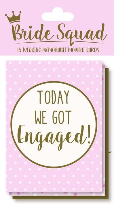 15PC WEDDING MOMENT CARDS
