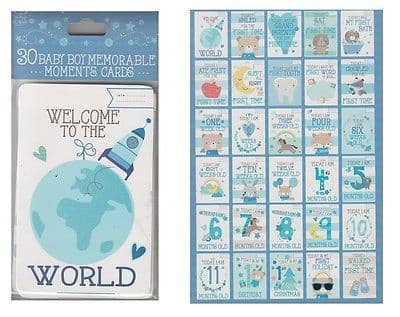 30 baby boy memorable moment cards