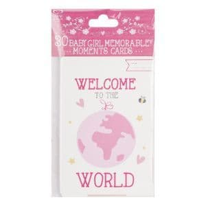 30 baby girl memorable moment cards