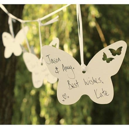 30 pack butterfly wedding wishes