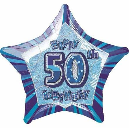 50th birthday foil balloon star