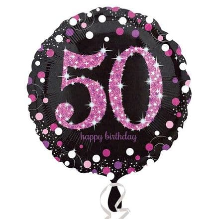 50th foil balloon (pink)