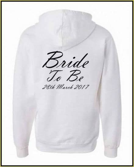 Bride To Be Zip Up Jacket