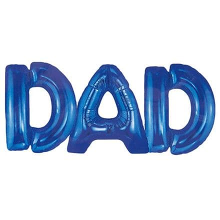 Dad air fill letters with string blue