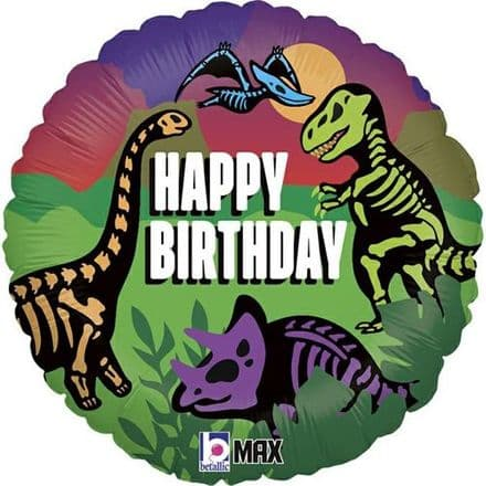 Dinosaur Birthday Balloon