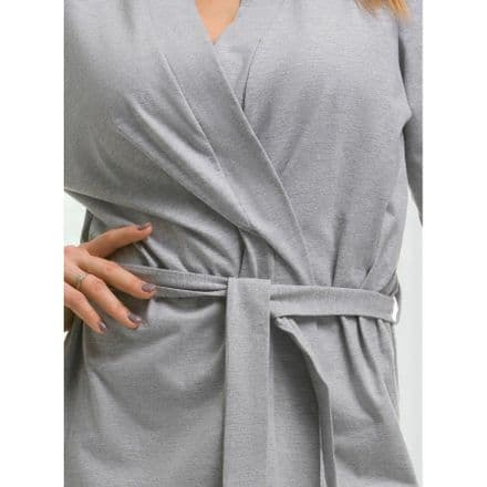 Grey cotton dressing gown