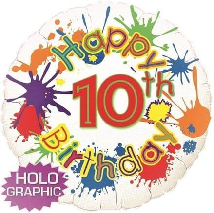 Happy 10th  birthday foil