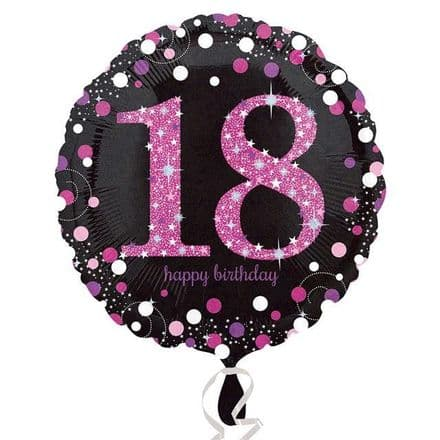 Happy 18th foil balloon (pink)