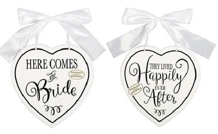 HERE COMES THE BRIDE MDF SIGN