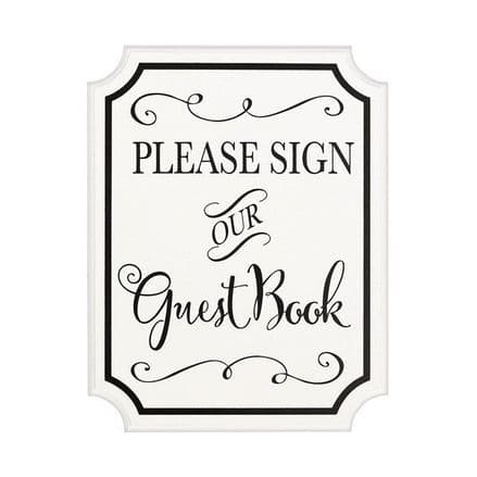 MDF GUEST BOOK SIGN W/ EASEL