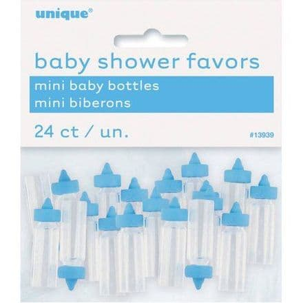 Mini Plastic Baby Bottle Baby Shower Favor Charms, 1 in, pink, 24ct