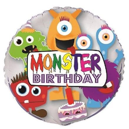 Monster Birthday foil