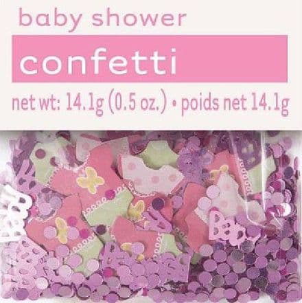 PINK DOTS BABY SHOWER FOIL CONFETTI