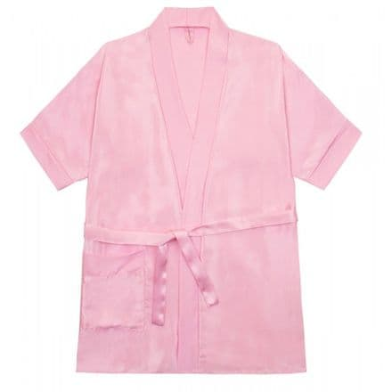 Silky Baby Pink  dressing gown