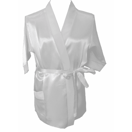 Silky Ivory dressing gown