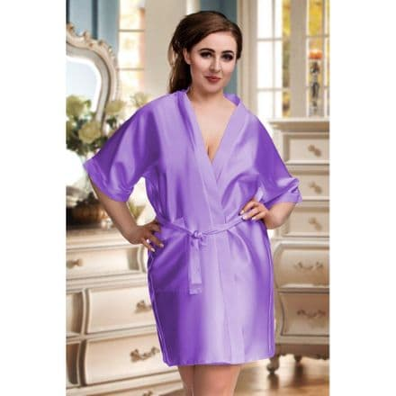 Silky Lilac  dressing gown