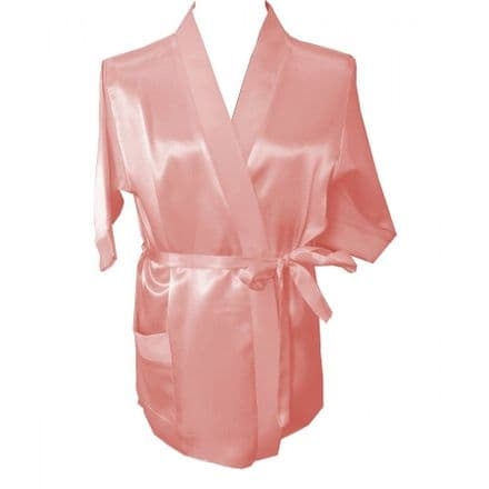 Silky nude dressing gown