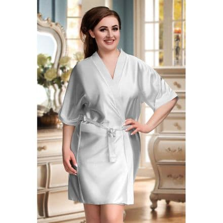 Silky Silver dressing gown