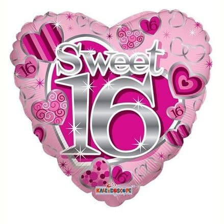Sweet 16 heart foil balloon
