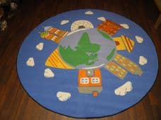 200CMX200CM HOUSES OF THE WORLD  RUGS/MATS HOME/SCHOOL EDUCATIONAL NON SILP