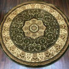 STUNNIG 150X150CM CIRCLE RUGS WOVEN BACK HAND CARVED IVORY/RED RANGE RUGS/MATS