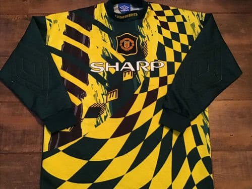 1994 1997 Manchester United Goalkeepers Football Shirt Large
