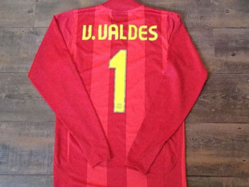 2007 2008 Barcelona Valdes Player Issue Camp Nou Goalkeepers Football Shirt Adults Small