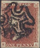 1841 1d Red SG7 Plate 11 'EA'