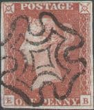 1841 1d Red SG7 Plate 11 'EB'